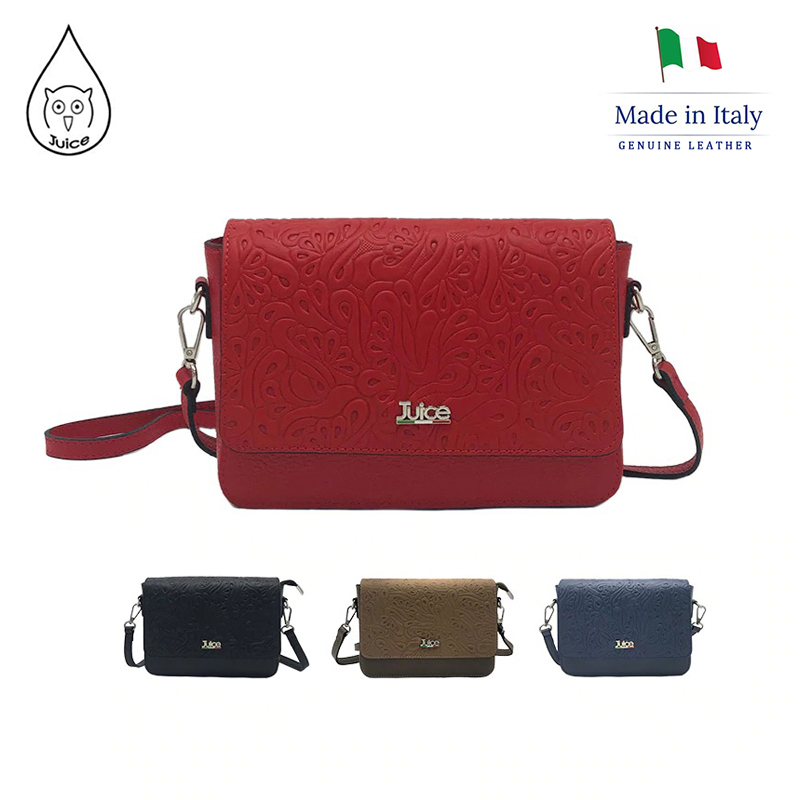 JUICE ,made In Italy, Genuine Leather, Women Bag,Women Cross Body 112184.412