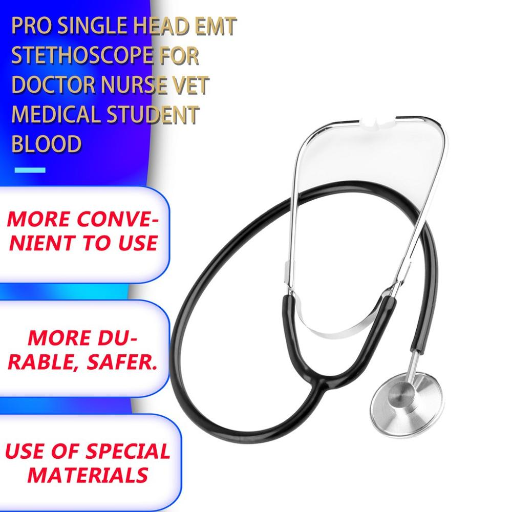 Hot ! Professional Single Head Medical Cardiology Cute EMT Stethoscope For Doctor Nurse Vet Student Chest Piece Medical Devices