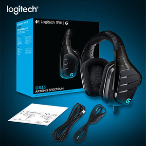 Logitech G633 7.1 RGB GAMING HEADSET Surround Sound Gaming Headphones Microphone Head For Mouse Gamer PUBG LOL Overwatch