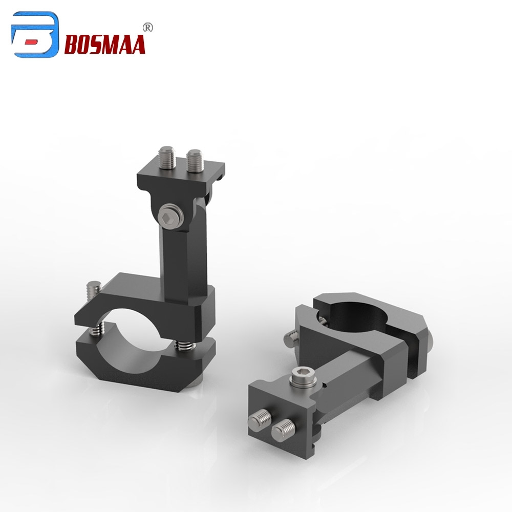 2 Pcs BOSMAA G96 Motorcycle Headlight Mounting Bracket Relocation Clamps Car Accessories For 20-26mm Tube Fork