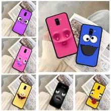 3d engraçado rosto casos de telefone para huawei p9 p10 p20 p30 p40 lite por psmart 2019