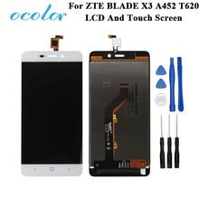 Ocolor ZTE BLADE X3 A452 t620 LCD ekran ve dokunmatik ekran ekran Digitizer meclisi değiştirme ZTE telefon + araçları