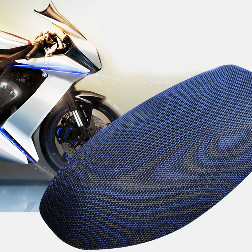 Motorcycle Seat Cover Cushion  Motorbike Seat Cycle Flat Saddle Sun Pad Heat Insulation Cushion Protection