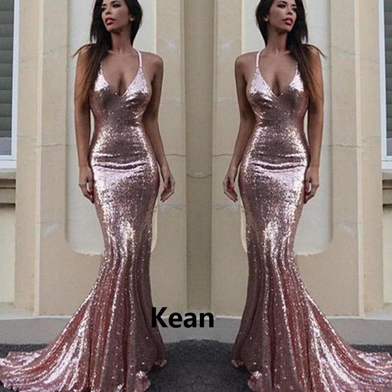 Spaghetti Straps Mermaid Sequin Evening Dress Special Occasion Robe Soiree Islamic Dubai Kaftan Saudi Arabic Evening Gown Prom
