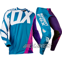 2017 Mx New 360 Creo Teal Purple Pink MX Motocross Jersey & Pant Combo ATV Dirt Bike Gear Set Motorbike Suit Kit Off-road Racing 2017 naughty fox mx shiv 360 motocross gear set off road racing suit motocross jersey and pants