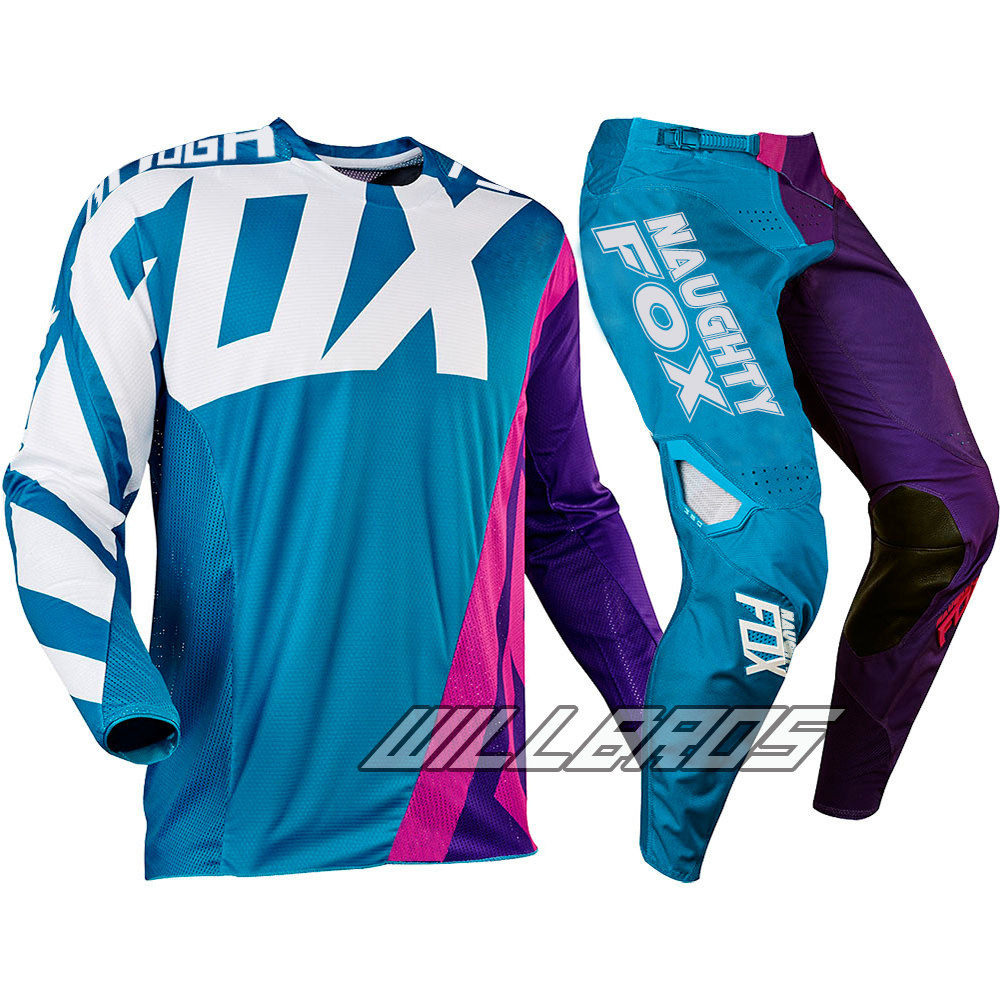 2017 Mx nouveau 360 Creo Teal violet rose MX Motocross Jersey & pantalon Combo ATV Dirt Bike Gear Set moto costume Kit tout-terrain course