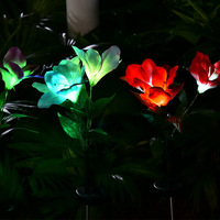 Solar Gentleman Orchid Light LED Color Gradient Decorative Lawn Insert Garden Lantern Fiber Optic Light