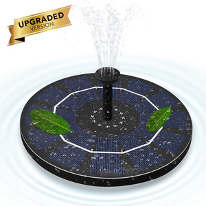 Солнечный фонтан 1,8 Вт, плавающий фонтан, водяной насос, круглая ванна для птицы, водный бассейн, украшение для аквариума, пруд, плавательный ...