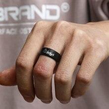 Mangosky mangosky 8mm figura de ação preto anéis hp sempre o deathly hallows anéis para homem e mulher