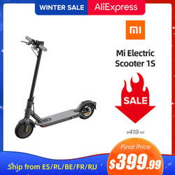 Xiaomi Electric Scooter 1S MIJIA Smart E-Scooter 25km/h Max Speed Original Mi Folding Skateboard Hoverboard Mi Slide Car Adult