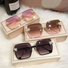 MS New Women Sunglasses Rimless UV400 pearl High Quality Gra