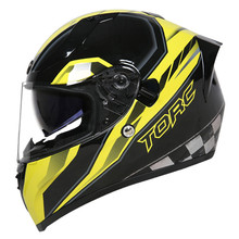 New Arrival TORC T18 Full Face Motocycle Helmet Vintage Man Woman With Double Le