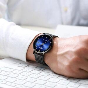 Image 5 - Relogio Masculino NIBOSI גברים שעונים פשוט אופנה למעלה מותג יוקרה Creative זכר שעון עמיד למים לא מוגדר מזדמן שעון גברים