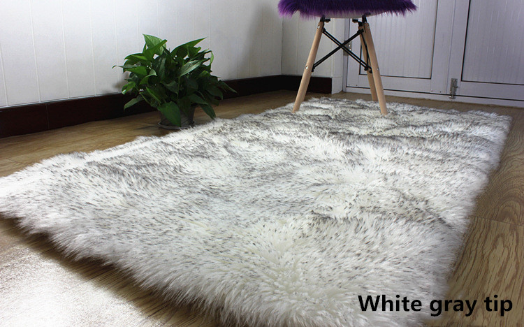 2 artificial wool large size long hair fluffy (4)
