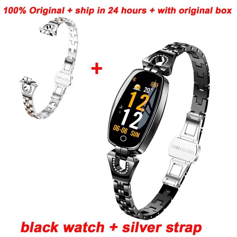 black add silver