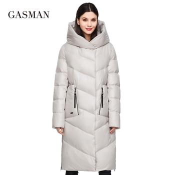 GASMAN 2020 Fashion Brand Down Parkas Women's Winter Jacket Women Coat New Long Thick OutwearWarm FemaleJacket Plus Size 206 1
