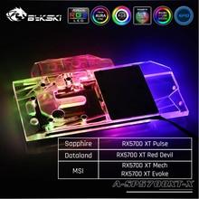 Bykski A SP5700XT X GPU Water Cooling Block For Sapphire RX 5700 XT Pulse, MSI RX5700XT Mech/Evoke Dataland RX5700XT Red Devil