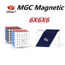 Original yj mgc 6 cubo 6x6 cubo mágico magnético yongjun mgc 6 ímãs cubo mágico cubos de velocidade brinquedos educativos para crianças