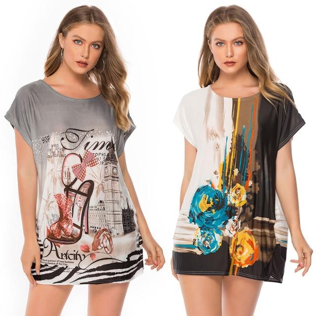 Summer Street wear T-Shirt Tees , Shirts & Tops Women color: Black Gray