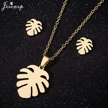 Tropical Palm Leaves Necklace Hawaiian Leaf Pendant Necklace for Women Boho Stainless Steel Jewelry Accessories Pendientes 2020 image