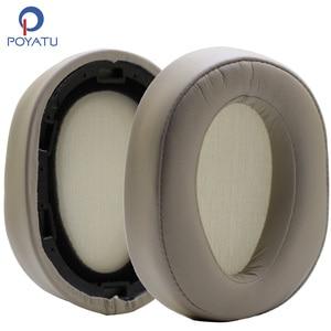 Image 1 - Poyatu אוזן רפידות עבור SONY MDR 100ABN H900N WH H900N החלפת אוזניות אוזן כרית כרית כוסות כיסוי Earpads זהב בז