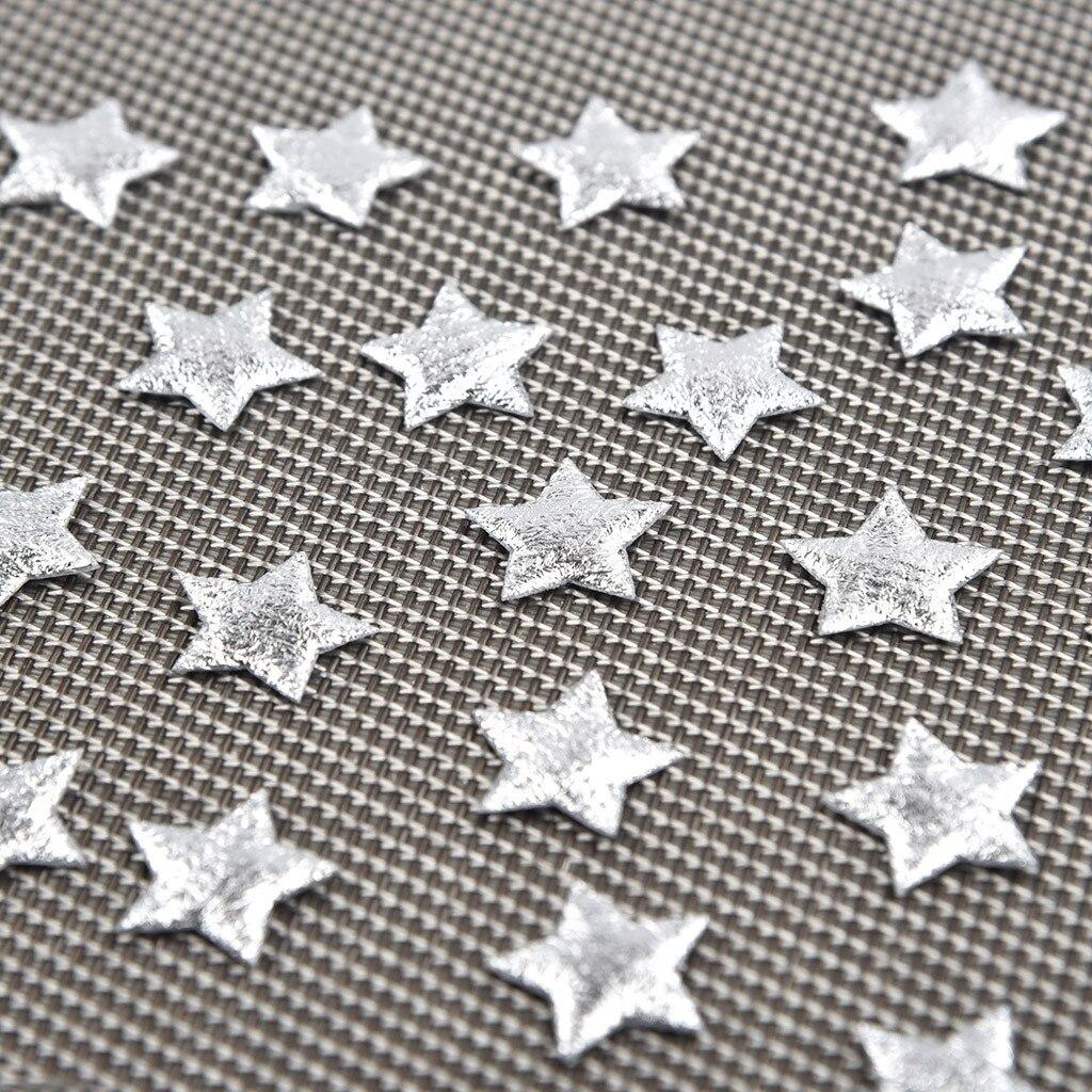 Details about  /Confeti de cinco puntas de Navidad de tela dorada y plateada para decoración