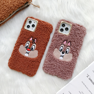 Cute Squirrel Phone Case For iphone x Case Cartoon Chip Dale Coque For iphone 7 8 Plus X XS XR 11Lamb wool Soft TPU Back Cover(China)