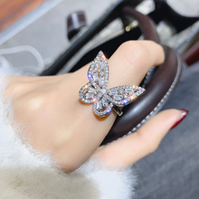 Shiny Side New Fashion Brand Jewelry Engagement Rings for Women Gift Crystal Butterfly Wedding