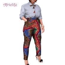 Весенне осенний комплект из рубашки и брюк в африканском стиле