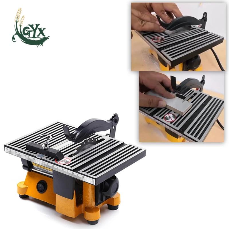 220VDIY circular cutting saw blade multifunctional mini table saw woodworking tempered glass tile cutting machine