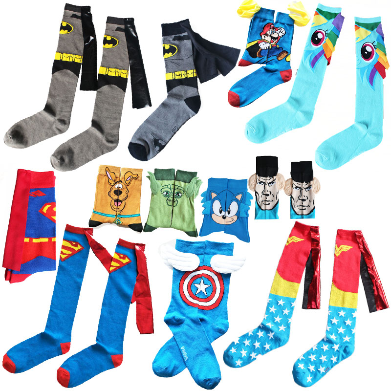 Avengers Marvel Cartoon Socks Batman Superman Casual Socks Fashion Novelty Funny Men Sock Autumn Winter Comfort Happy Socks