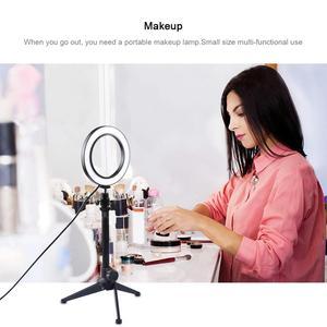 Image 5 - ไฟ LED การถ่ายภาพวิดีโอ Selfie โคมไฟหรี่แสงได้โทรศัพท์กล้องขาตั้งกล้องสำหรับถ่ายภาพแต่งหน้าวิดีโอสตูดิโอ