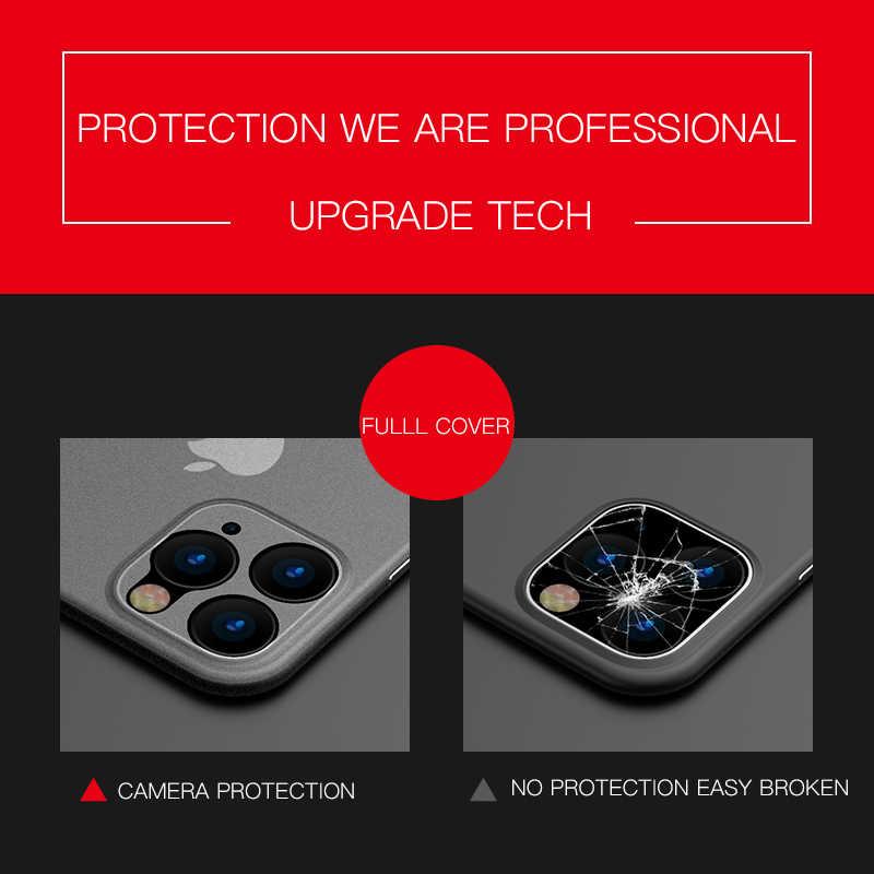 Luksusowy Ultra cienki miękki 0.2mm PP matowy futerał na iPhone 11 Pro XS Max XR XS X pokrywa dla iPhone 6s 7 8 Plus SE 2 odporny na wstrząsy futerał