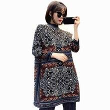 LANMREM 2020 nouveau automne imprimé léopard mi longueur robe plissée pour les femmes Streetwear ample grande taille a ligne robe pull PD749