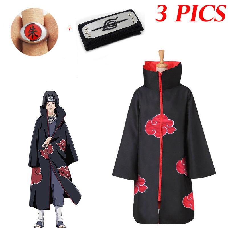 Costume de Cosplay Akatsuki Uchiha Tobi Obito Akatsuki, masque cape, Costume d'halloween pour homme et femme, bandeau, accessoires 3 photos