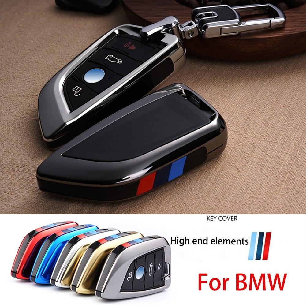 Plating Remote Controller Key Bag Holder fit bmw blade KeyChain Car key Cover Case for BMW X1 X5 X6 F15 F16 F48 BMW 1   2 Series