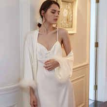 Nightgown Autumn Sexy For Women Pyjama Femme Gown Robe Set Dress INS Fashion Ladies Sleepwear Romantic