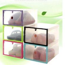 Shoe Rack Clear Plastic Stackable Transparent Box Shoes Storage Drawer Creative zapatero organizador de zapatos hot