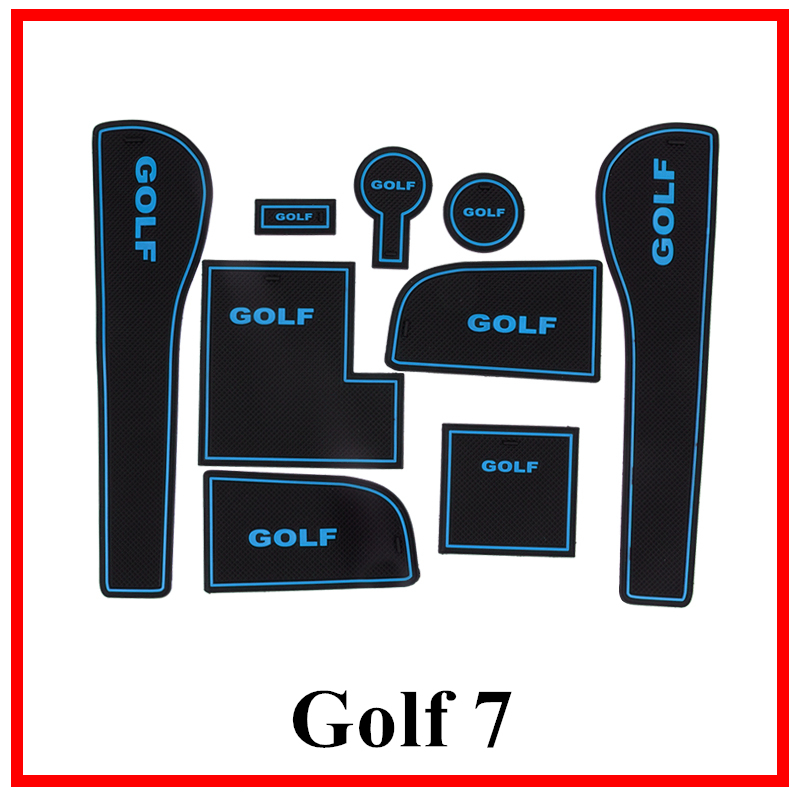 For <font><b>VW</b></font> <font><b>Golf</b></font> 6 MK6 For Volkswagen <font><b>Golf</b></font> <font><b>7</b></font> MK7 1Set Car Non-Slip Interior cup cushion Door Mat covers <font><b>stickers</b></font> Accessories image
