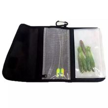 цена на Fishing Soft Lure Bags Canvas Waterproof Sequin Jig Bag Bait Bag Tackle Bag 27RD