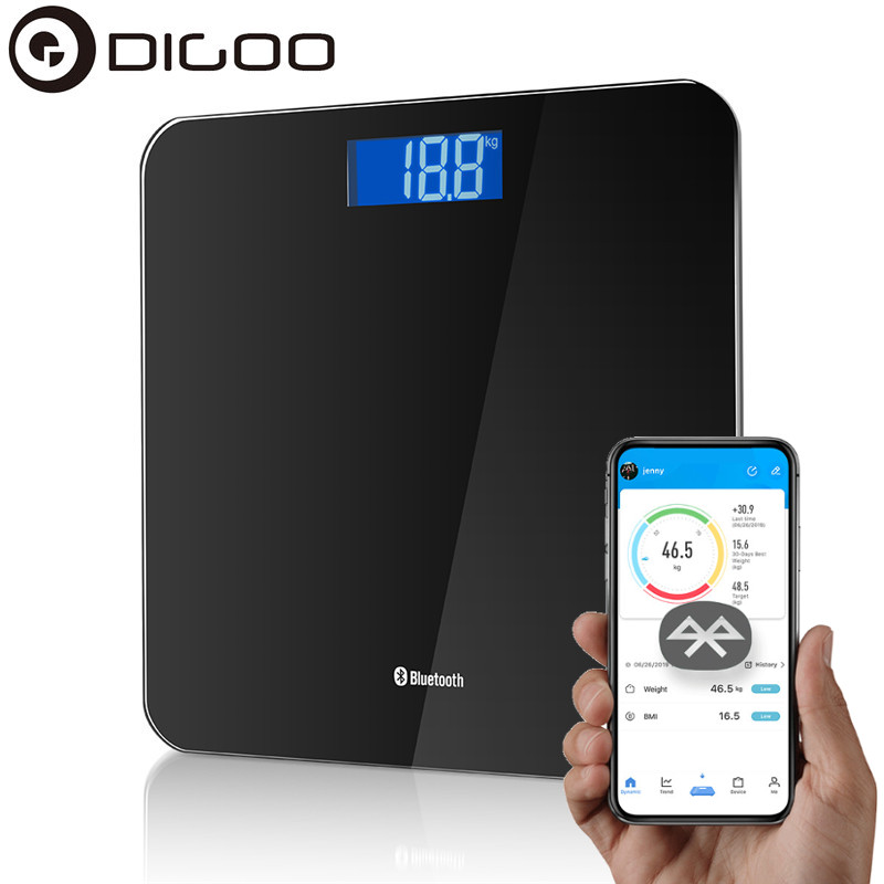 Digoo DG-B8025 LCD Bluethooth Scale Body Weight Scale Floor Scientific Smart APP Electronic Scales Weight Bathroom Balance