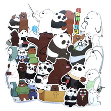 42PCS/1 Pack Naked Bear Cute Comic Sticker Japanese Anime Cartoon Suitcase Computer Bike Scooter Doodle Sticker Toy