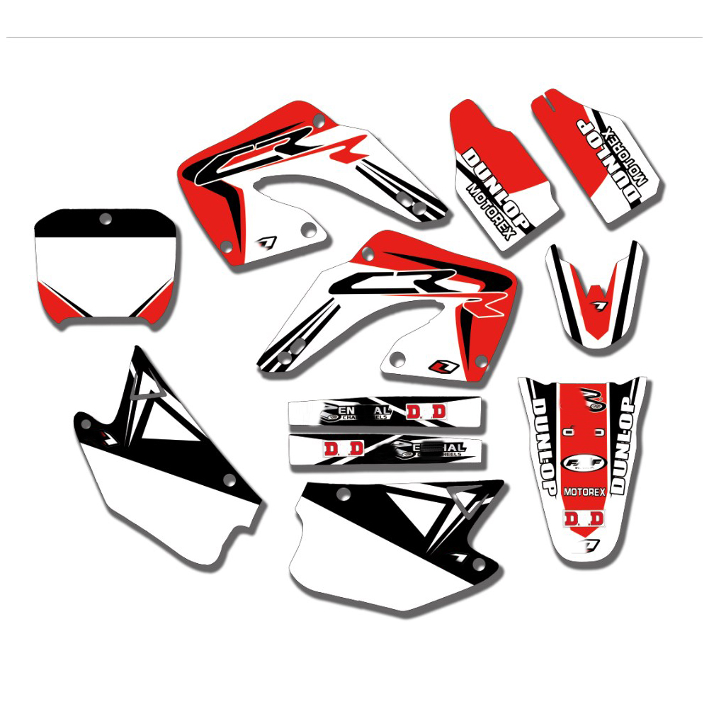 Free Customized Motorcycle Graphics Stickers Kit Decal  For Honda CR125 CR125R CR250 CR250R 2000 2001 CR 125 250 125R 250R 00-01