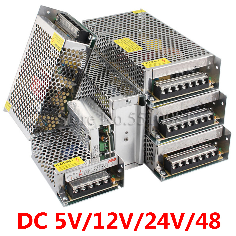 Switching Power Supply Light Transformer AC 110V 220V To DC 5V 12V 24V 48V Power Supply Source Adapter For Led Strip CCTV