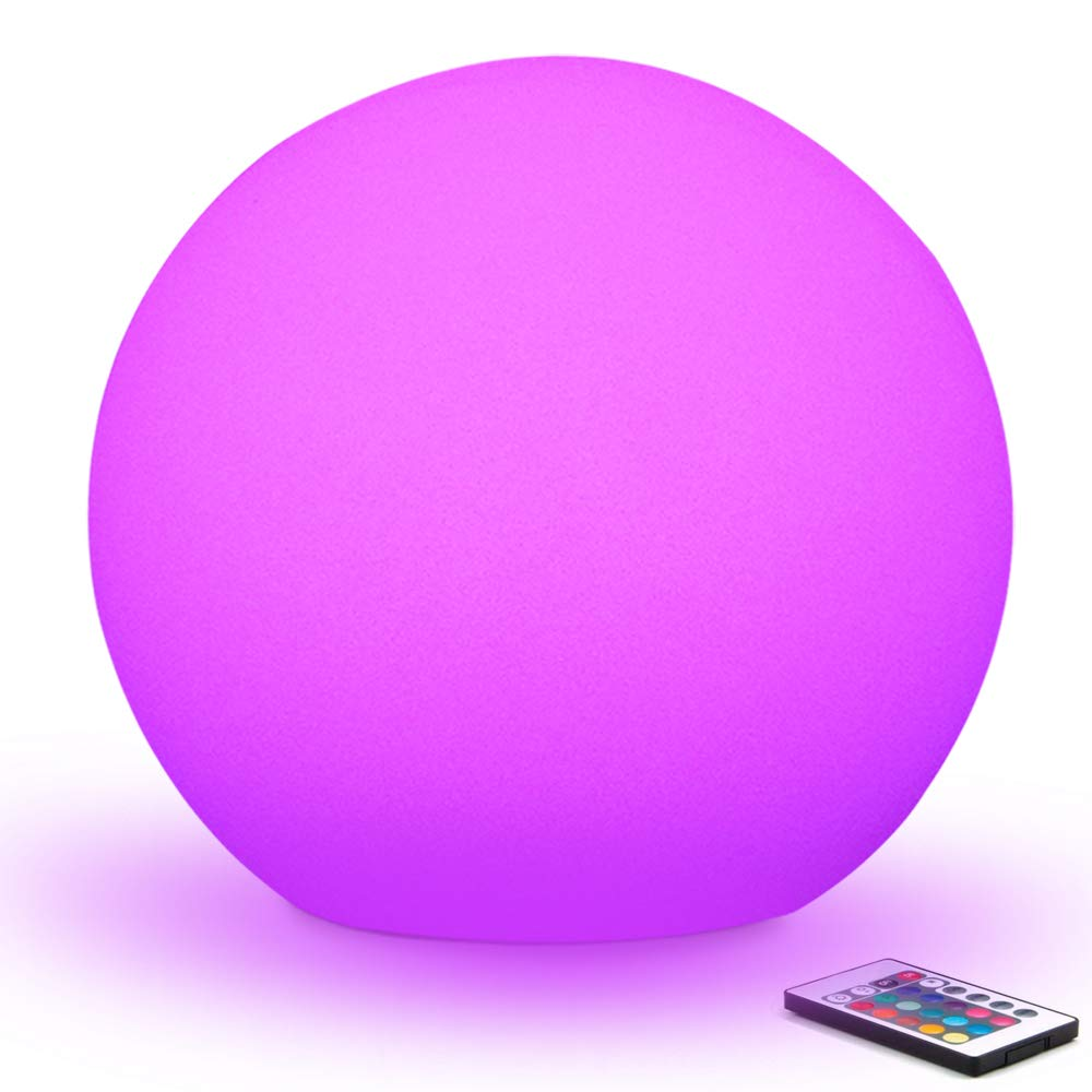 Rechargeable Remote Control LED Ball Night Lights Indoor Home Table Lamp Garden Lawn Light Wedding Party KTV Bar Room Decoration