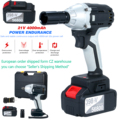 Brushless Impact Wrench Cordless Electric Wrench Lithium Screwdriver Electric Screwdriver With Battery with Driver Impact Socket