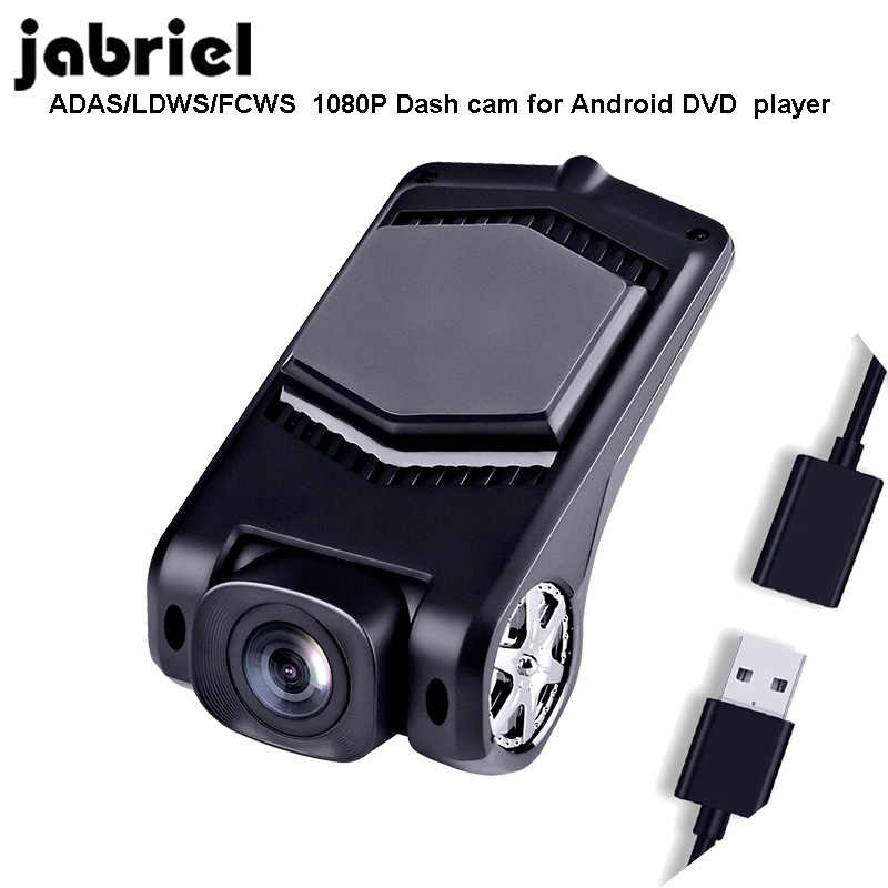 Jabriel ADAS Dash cam FHD  usb dvr camera LDWS G-Sensor PIP car video recorders for Android DVD  player FCWS