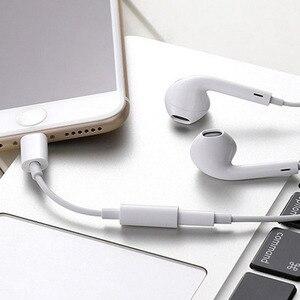 Image 4 - Adaptador de auriculares Lightning para iPhone 7 de alta calidad, Cable de Audio 2 en 1 de 3,5mm, adaptador de auriculares