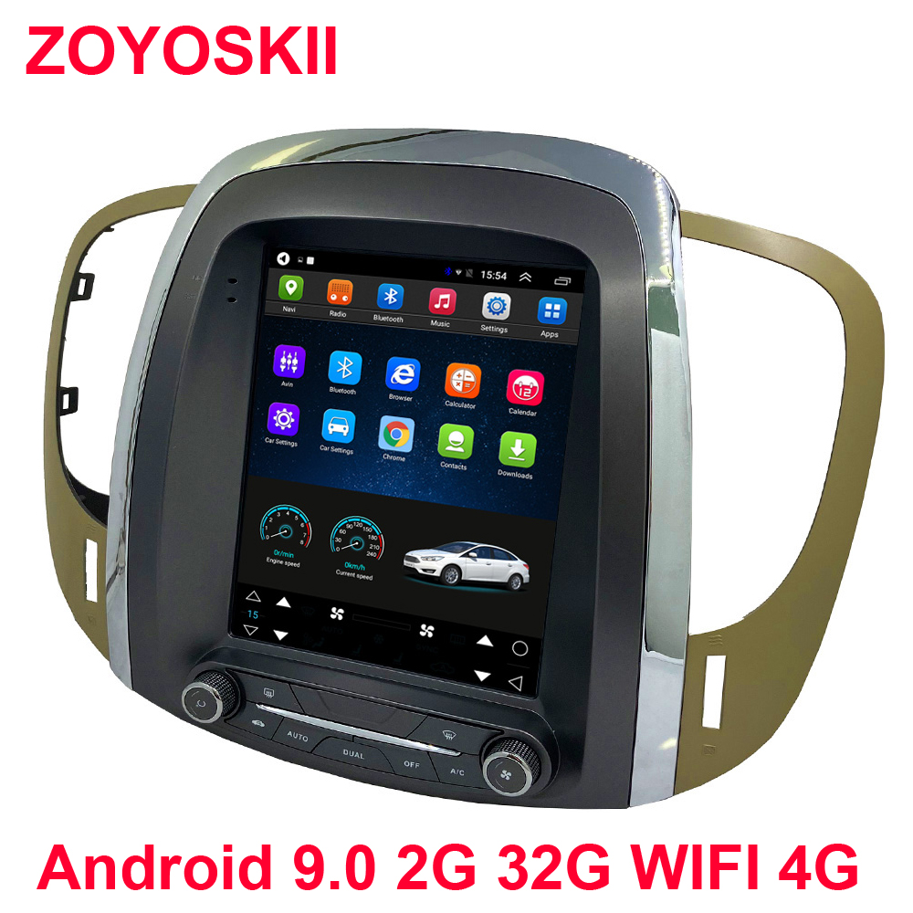 ZOYOSKII Car Android 9.0 10 Multimedia Radio Bluetooth Gps For Buick Lacrosse GM Alpheon 2009-2012 10.4 Inch Vertical Screen