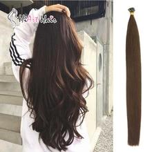 """HiArt, 1 г/локон, волосы для наращивания на плоских кончиках, человеческие волосы remy для наращивания, натуральные волосы для наращивания, двойные прямые волосы, натуральные волосы, 1"""" 20"""" 22"""
